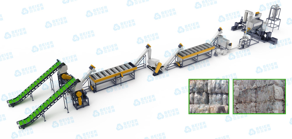 PE Bag Recycling Line