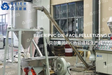 PVC die-face pelletizing line