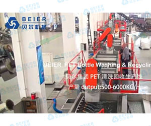 500-6000kg PRET Cleaning Recycling Line