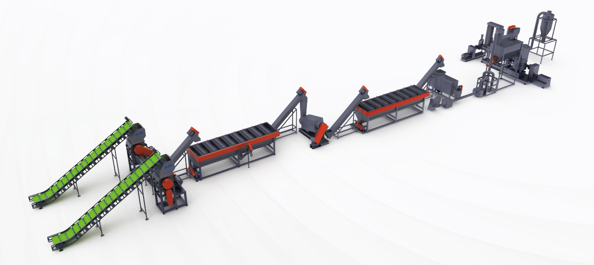 PP/PE Soft Material Washing Recycling Line